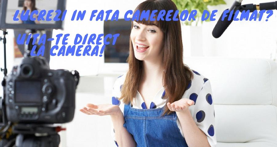 Lucrezi in fata camerelor de filmat? Iata cum poti transmite o energie pozitiva!