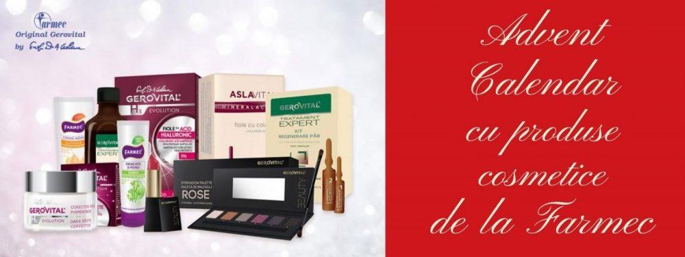 Advent Calendar cu produse cosmetice de la Farmec