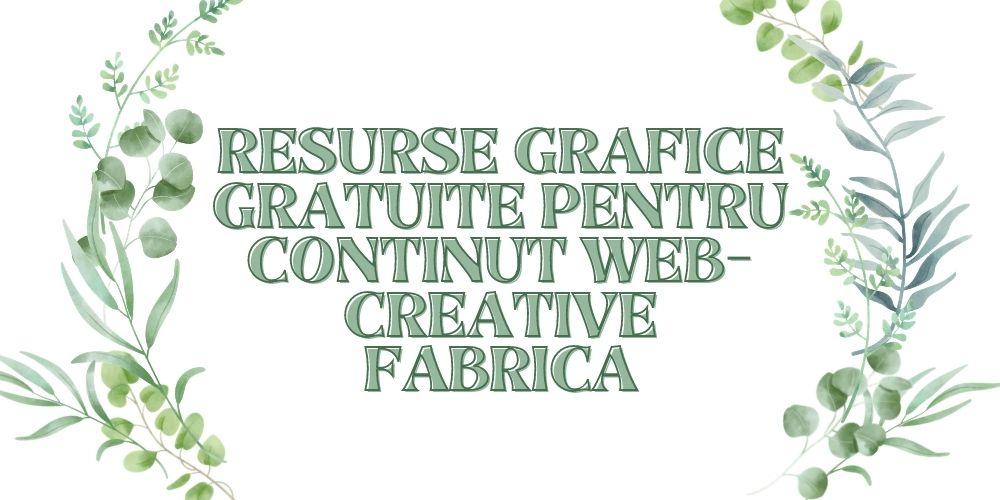 Resurse grafice gratuite pentru continut web- Creative Fabrica